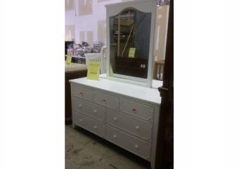 Craft 7 Drawer Dresser with Mirror in White