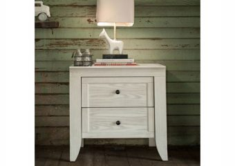 Cameo 2 Drawer Nightstand Steam