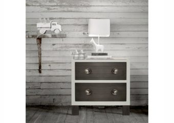 True 2 Drawer Nightstand Mud w Snow