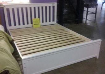 queen slat panel bed