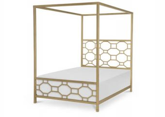chelsea metal canopy bed full