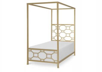 chelsea metal canopy bed twin 1