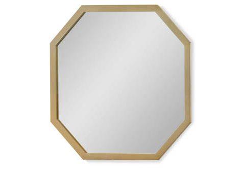 Chelsea Mirror Gold Finish