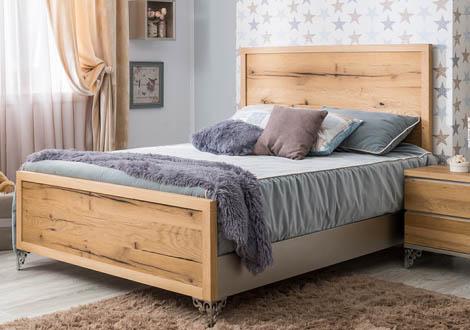 Pandora Full Bed with Oak Panel Headboard