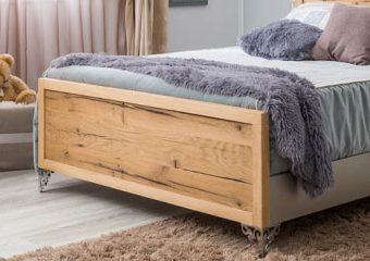 Pandora Low profile Footboard Oak Panel