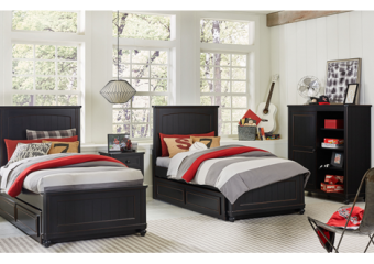 crossroads twin panel bed