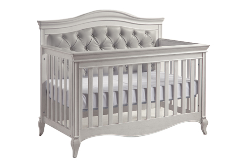 Diamante Forever Crib – Grey Vinyl