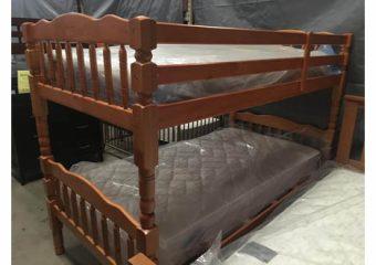 carly twin bunk in oak