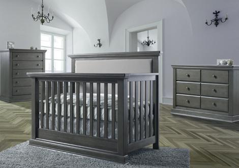 Modena Upholstered Forever Crib & Double Dresser Bundle
