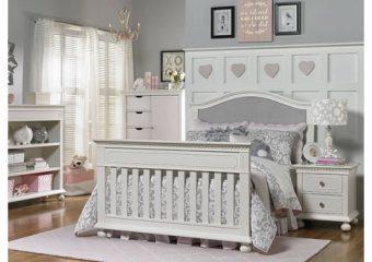 Naples Upholsert Crib Room View Snow White Converted Full Size bed