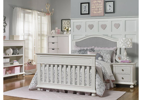 Naples Full Size Conversion Kit In Snow White By Dolce Babi Furniture