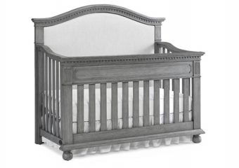 Naples Upholstered Crib in Nantucket Grey Sil.
