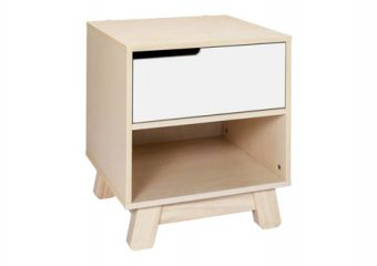 Hudson Night Stand in Washed White and Natural