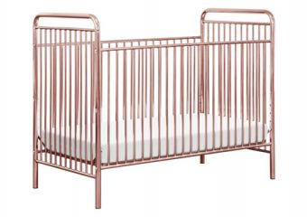 Jubilee Crib Pink Chrome Angle