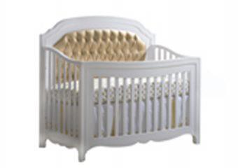 Allegra-Gold Convertible Crib White