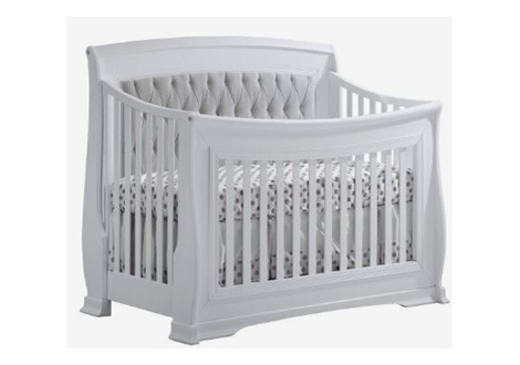 Bella Convertible Crib with Upholstered Panel