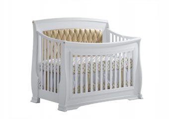 Bella-Gold Convertible Crib White