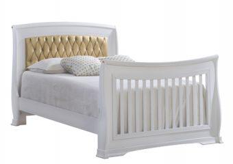 Bella-Gold Double Bed 54'' White