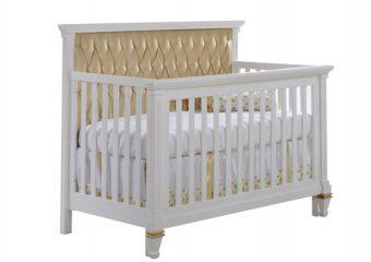 Belmont Gold Convertible Crib White