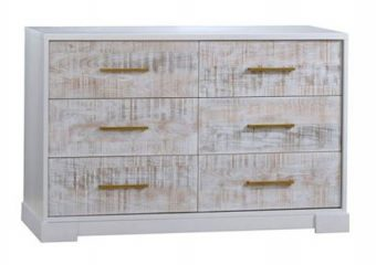 Vibe Double Dresser White with White Bark