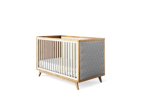Uptown Collection Classic Crib with Tufted Sides