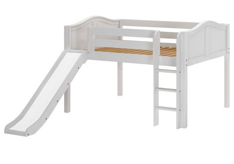 Maxtrix Low Loft Full Bed With Straight Ladder and Slide