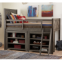 bunkhouse mid loft bed twin 8