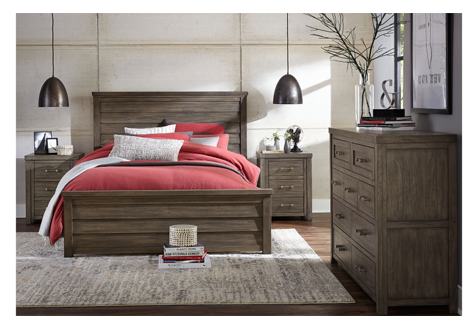 Bunkhouse Complete Louvered Queen Panel Bed