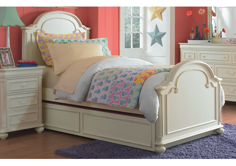 Charlotte Twin Arched Panel Bed