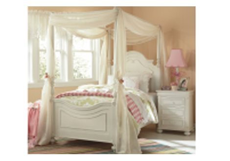 Charlotte Full Low Poster Bed w/Canopy Kit