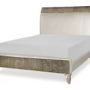 glitz and glam complete upholstered queen mermaid bed 2
