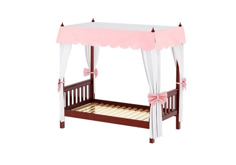 Maxtrix Princess Poster Full Bed with Corner Fabrics and Canopy