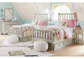 grace low post twin bed