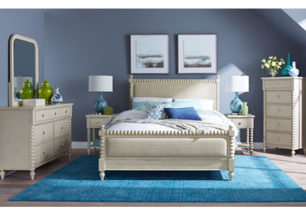 grace upholstered queen bed