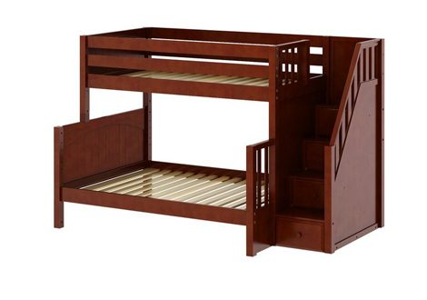 Maxtrix Medium Twin over Full Bunk with Staircase