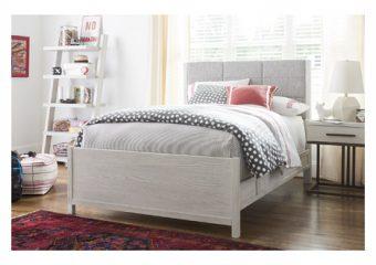 Smartstuff Modern Spirits Upholstered Queen Bed Roomshot 1