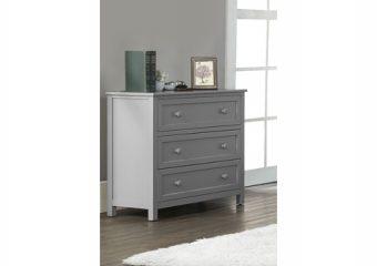 3 DRAWER DRESSER IN GRAY ROOM VIEW