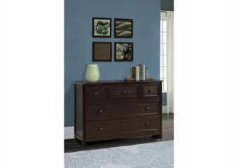 5 DRAWER DRESSER IN CHOCOLATE ROOM VIEW