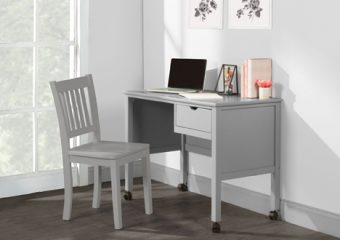 DESK AND CHAIR IN GRAY