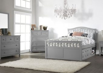FINLEY FULL CAPTAIN'S BED IN GRAY