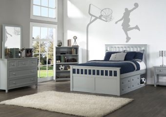 MARLEY FULL MISSION CAPTAINS BED IN GRAY