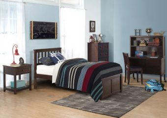MARLEY MISSION BED TWIN IN CHOCOLATE