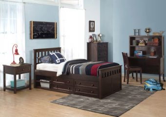 MARLEY MISSION CAPTAIN'S BED IN CHOCLATE