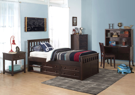 Schoolhouse 4.0 Marley Twin Captain's Bed