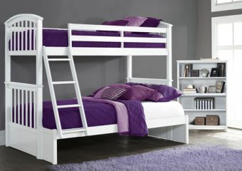 SYDNEY TWIN OVER FULL BUNK BED IN WHITE