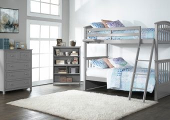 SYDNEY TWIN OVER TWIN BUNK BED IN GRAY ROOM VIEW