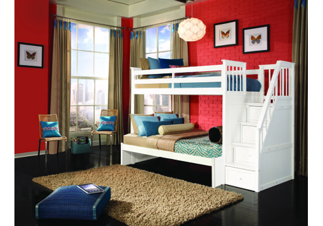 Schoolhouse 4.0 Twin/Full Stair Bunk