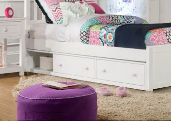 Schoolhouse Underbed Storage in White