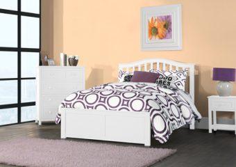 FINLEY FULL BED IN WHITE