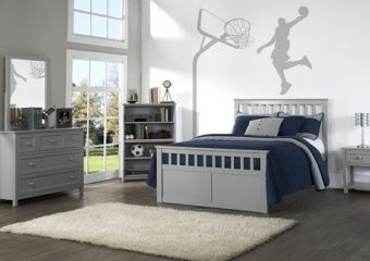 MARLEY FULL MISSION BED IN GRAY